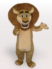 Madagascar Lion Short Plush Adult Mascot Costume