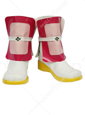 Red And White Magical girl lyrical Nanoha Cosplay Shoes Boots