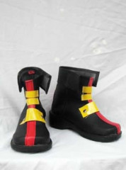 Magical Girl Lyrical Nanoha Teana Lanster Cosplay Shoes Boots Black and Yellow