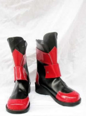 Magical girl lyrical Nanoha Cosplay Shoes Boots Red and Black