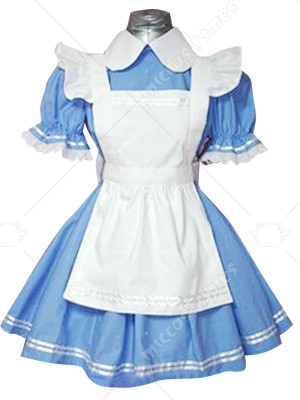 Maid Blue And White Lolita Cosplay Dress