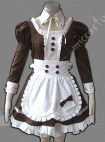 maid culture coffee colored cosplay costume