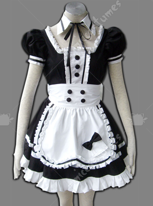 Maid culture dark queen cosplay costume