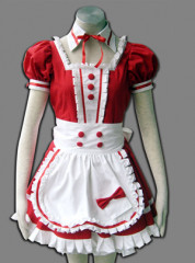 Maid culture ruby colored cosplay costume