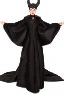 Exclusive Female Halloween Cosplay Costume Gown Dress with Headgear Inspired by Maleficent