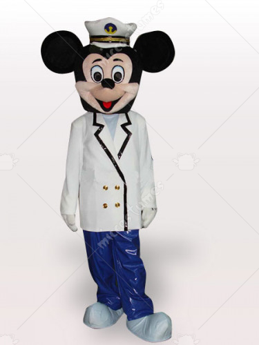 Marine Micky Short Plush Adult Mascot Costume