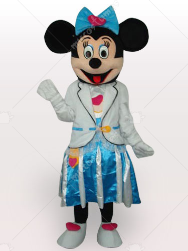 Marine Minnie Short Plush Adult Mascot Costume