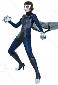Persona 5 Makoto Nijima Phantom Thief Cosplay Costume with Mask