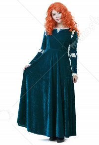Brave Princess Merida Adult Dress Cosplay Costume