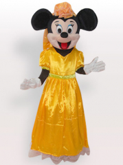 Micky Short Plush Adult Mascot Costume