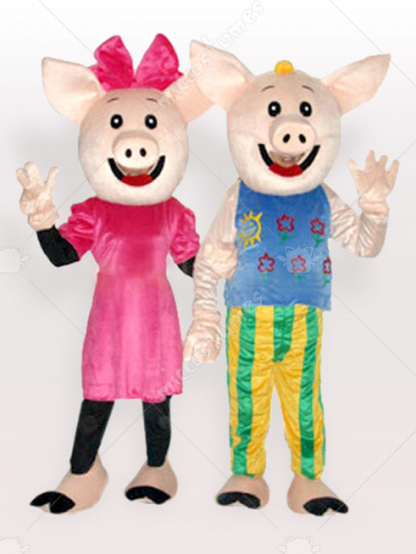 Mr and Mrs CoCo Pig Adult Mascot Costume