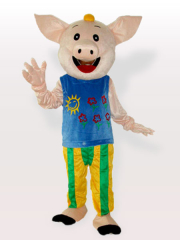 Mr CoCo Pig Adult Mascot Costume