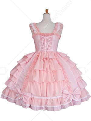 Multi Layers Bow Decoration Sweet Lolita Cosplay Dress
