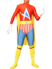Multicolor Lycra Spandex Super Hero Catsuit