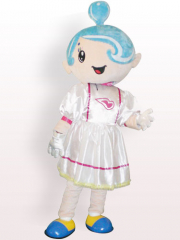 Music Girl Plush Adult Mascot Costume