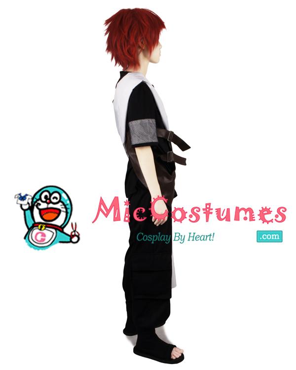 Naruto Shippuuden Black Gaara Cosplay Kostüme