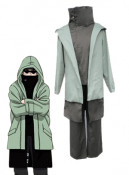 Naruto green shino aburame Cosplay Costume Men XL