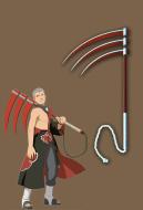 Naruto Hidan Triple-Bladed Scythe