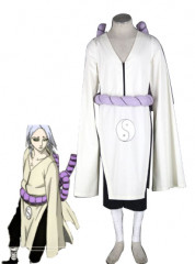 Naruto Kimimaro Kaguya White Cosplay Costume with Black Pants