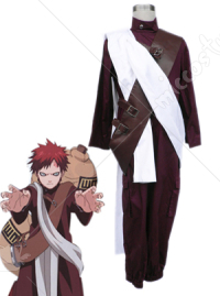 Naruto Red Brown Gaara Cosplay Costume