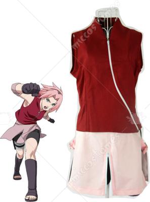 Naruto Shippuden Sakura Haruno Casual Cosplay Costume