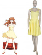 Neon Genesis Evangelion Asuka Yellow Dress Cosplay Costume