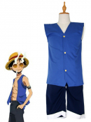 One Piece Luffy Cosplay Waistcoat Costume