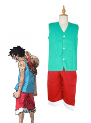 One Piece Luffy Green Cosplay Costume