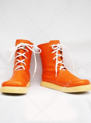 Orange Final Fantasy Yuffie Cosplay Shoes Boots
