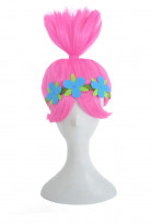 Trolls Princess Poppy Cosplay Wig with a Ponytail