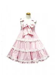 Pink And White Bow Decoration Sweet Lolita Cosplay Dress