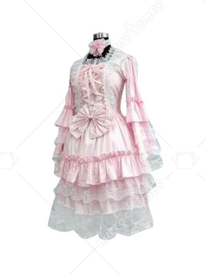 Pink Evil Lolita Cosplay Costume