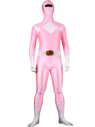 Pink Lycra Spandex Multicolor Super Hero Zentai Suit