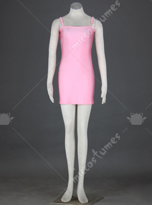 Pink Spaghetti Straps Evening Dress