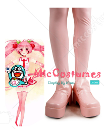 Pink Vocaloid Sakura Miku Cosplay Shoes