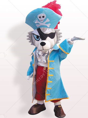 Pirate Dog Plush Adult Mascot Costume