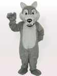 Plush Timber Wolf Adult Mascot Costume
