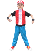 Pokemon X And Y Ash Ketchum Ash Rote Kind Cosplay Kostüm