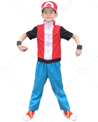 sc 1 st  Miccostumes & Pokemon X And Y Ash Ketchum Red Kids Cosplay Costume For Sale