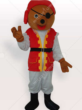 Private Bear Short Plush Adult Mascot Costume