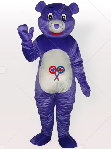 Purple Bear Adult Mascot Costume