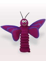 Purple Butterfly Adult Mascot Costume