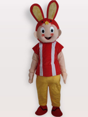 Rabbit Short Plush Adult Mascot Costume