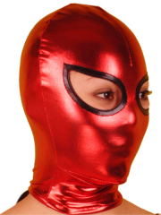 Red And Black Open Eye Shiny Metallic Hood
