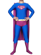 Red And Blue Lycra Spandex Super Hero Catsuit