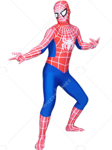 Red And Blue Spider Man Lycra Spandex Super Hero Zentai Suit