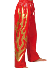 Red And Gold PVC Pants