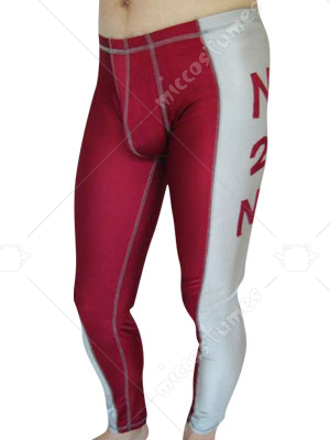 Red And Gray Spandex Pants
