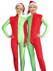 Red and Green Christmas Zentai Suit for Man