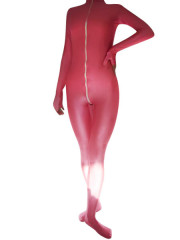 Red And White Spandex Unisex Catsuit